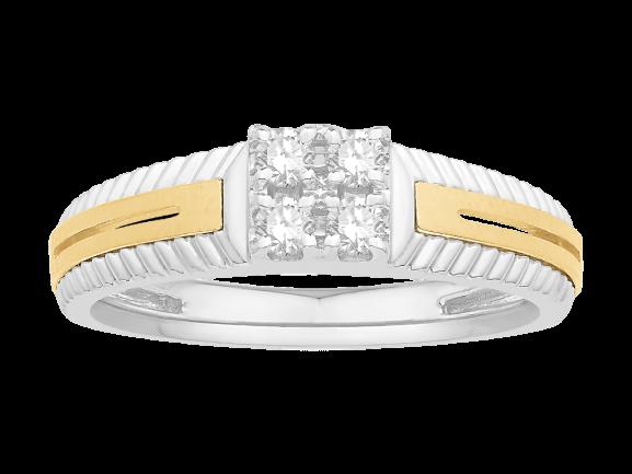 Men Traditional Diamond Engagement Ring WM0345