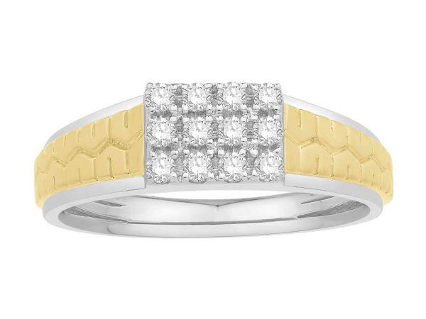 Men Traditional Diamond Engagement Ring WM0353