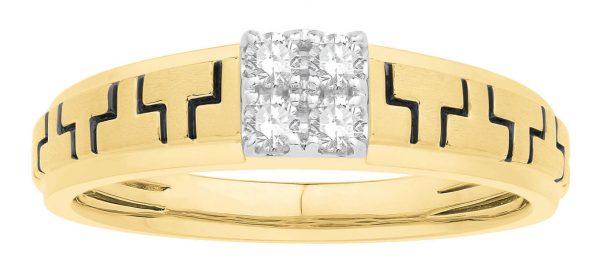 Men Traditional Diamond Engagement Ring WM0355