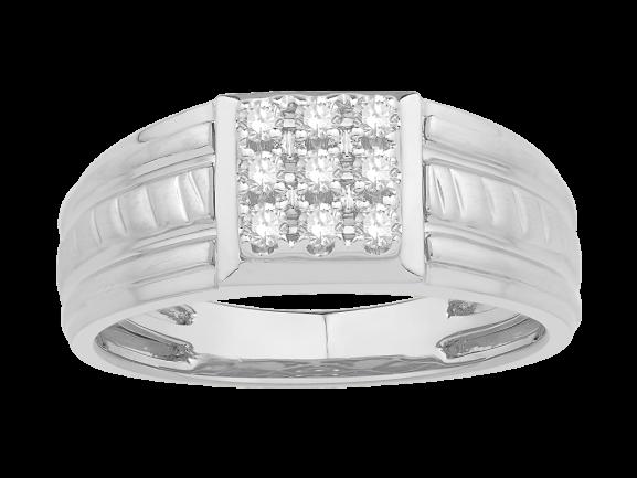 Men Traditional Diamond Engagement Ring WM0446CP